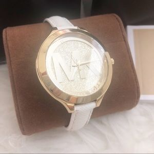 White and Gold Michael Kors watch brand new